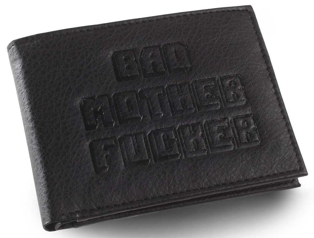 Black Embroidered BMF Wallet