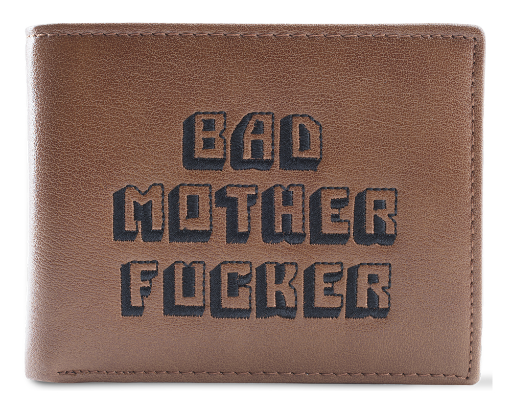 Brown Embroidered BMF Wallet