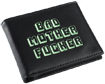Black/Green Embroidered Bad Mother Fucker Leather Wallet