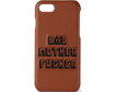 Brown Embroidered Bad Mother Fucker Phone Case